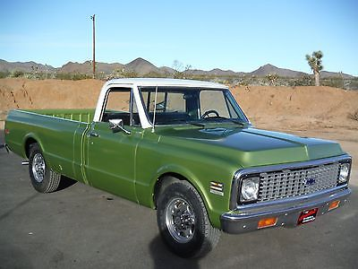 Chevrolet : C-10 LONGHORN 1972 chevy longhorn c 20 rare bbc 400 ac 8.5 ft bed rust free drive anywhere
