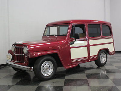 Willys : Wagon FULLY RESTORED, 350CI CHEVY, 700R4 TRANS, MUSTANG II FRONT END, LEATHER INTERIOR