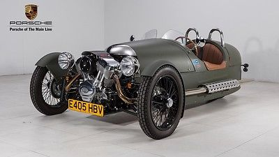 2014 Morgan 3 Wheeler Matte Army Green Open Cockpit ONLY 125 Miles Like New