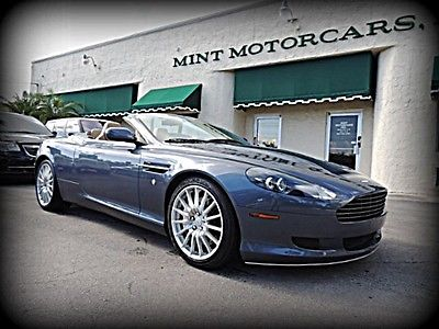 Aston Martin : DB9 Volante CARFAX CERTIFIED, BLUE/TAN, ONLY 28K MILES, EXCELLENT - CONDITION $175K NEW!!!