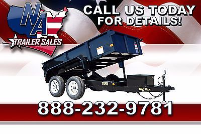New 2016 Big Tex Trailers Tandem Axle Single Ram 10' Dump Trailer - 70SR-10-5W