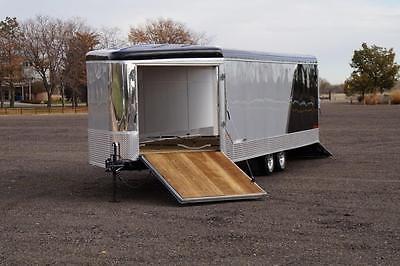 SALE IN STOCK 8.5 X 27 Enclosed Deckover Snowmobile ATV Trailer 4 Place No Screw