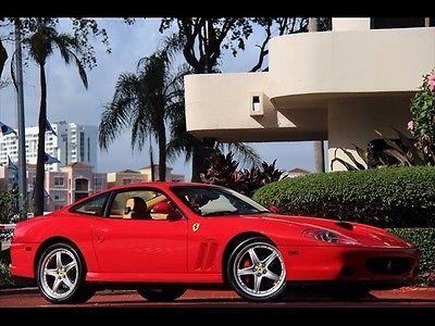 Ferrari : 575 M Maranello RED ONLY 15K MILES $1,327.00 A MONTH 2003 TAN LEATHER DAYTONAS SHIELDS GTO SHELF