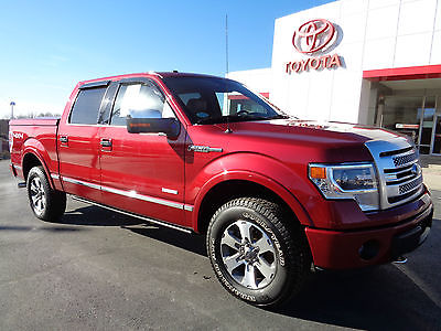 Ford : F-150 SuperCrew 4x4 3.5L Ecoboost Platinum Navigation 2013 f 150 supercrew platinum ecoboost 4 x 4 heated cooled leather sunroof nav 4 wd