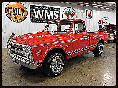 Chevrolet : C-10 1/2 Ton 2wd 69 red 1 2 ton 2 wd short bed v 8 show classic truck vintage rallys chevy pickup