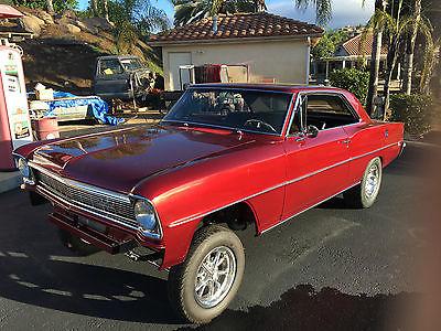 Chevrolet : Nova 1966 chevy nova 2 ht gasser show car n driver