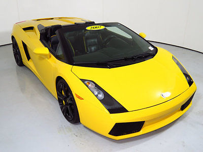 Lamborghini : Gallardo 2dr Convertible 2007 lamborghini gallardo spyder low miles