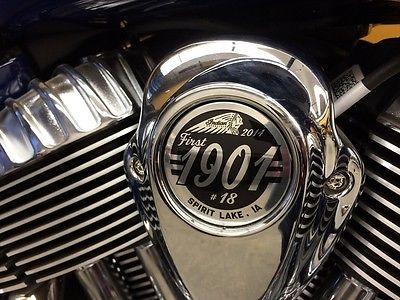 Indian : Cheif Classic #18 2014 indian chief classic 18 of 1 90 new only 1 mile rare springfiled blue
