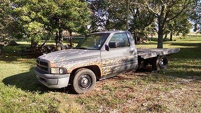 Dodge : Ram 1500 Flatbed Rat rod flaming flatbed truck
