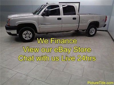 Chevrolet : Silverado 2500 LT3 4x4 CrewHeated Leather Duramax LBZ Allison 06 silverado 2500 lt 3 4 x 4 lbz duramax diesel crew leather we finance texas