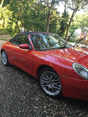 Porsche : 911 Carrera Convertible 2-Door 2000 porsche 911 convertable automatic red