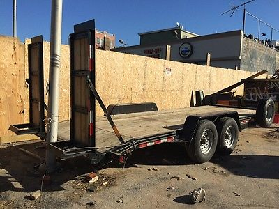 2014 FLATBED TRAILER ALMOST NEW CONDITION