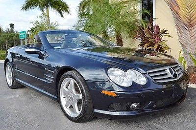 Mercedes-Benz : SL-Class AMG 2004 mercedes sl 55 convertible pano roof keyless go cooled seats bi xenon