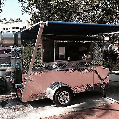 10 x 6 Quilted Stainless 2014 Food Trailer loaded