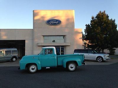 Ford : F-100 short bed 1956 ford f 100 short bed pickup fully restored 292 v 8 engine turquoise color