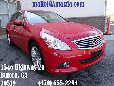 Infiniti : G37 4dr x AWD 4 dr x awd low miles sedan automatic gasoline 3.7 l v 6 cyl vibrant red