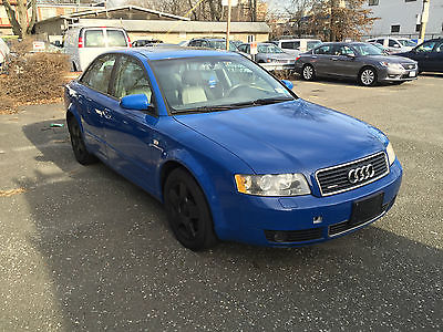 Audi : A4 1.8T Quattro 2002 audi a 4 quattro 1.8 t blue w tan interior turbocharged awd