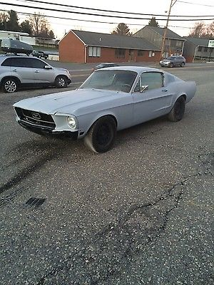 Ford : Mustang GT 1968 ford mustang fastback s code 390 gt highly optioned runs and drives solid