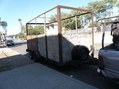 Car Carrier & Utility Trailer metal floor w/ wood slats TANDOM, BRAKES, WENCH