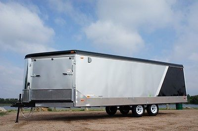 SALE IN STOCK 8.5 X 25 Enclosed Deckover Snowmobile ATV Trailer 4 Place 2 Ramps