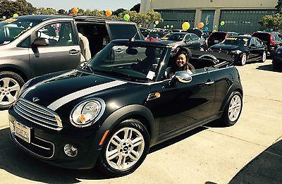 Mini : Cooper 2014 mini cooper convertible midnight black 24 500