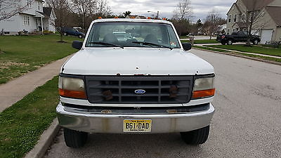 Ford : F-250 1997 f 250 hd white regular cab 4 x 4 8 ft bed
