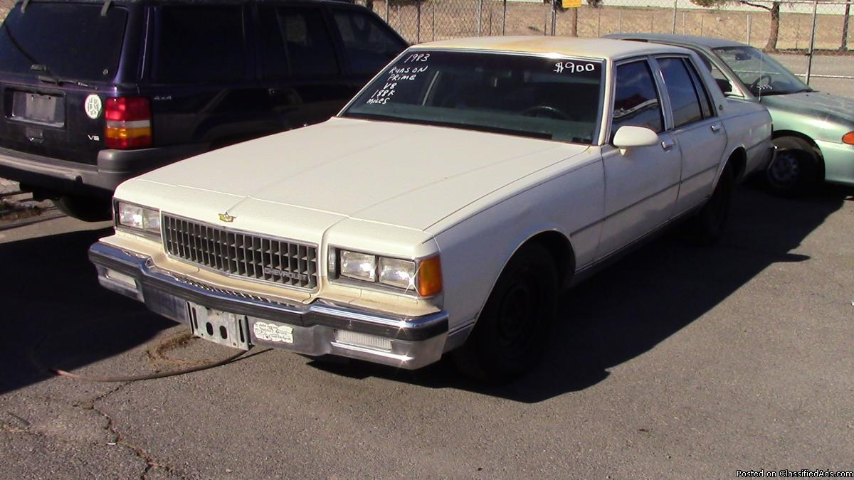 All Chevy 1971 chevrolet caprice for sale : 1986 Chevy Caprice Cars for sale