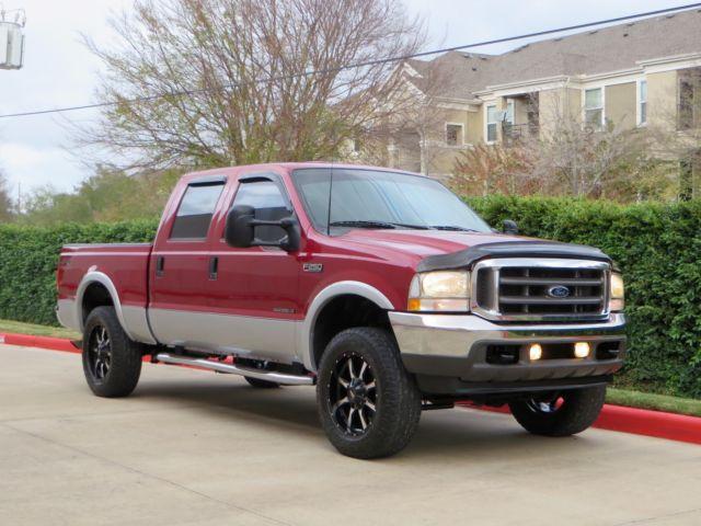 Ford : F-250 4x4 DIESEL! 2 owner crew cab sb lariat 7.3 l 4 x 4 20 rim very clean sharp truck rust free