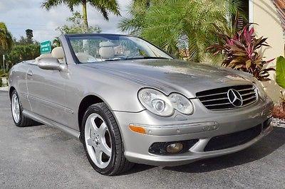 Mercedes-Benz : CLK-Class Convertible 2004 mercedes clk 500 convertible navigation keyless go 74 k miles v 8 parktronic