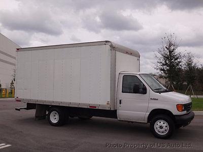 Ford : E-Series Van E350 Box Truck 2006 ford e 350 cutaway 15 ft box truck 5.4 l v 8 florida van one owner