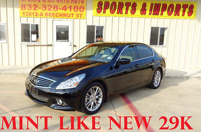 Infiniti : G37 4dr Journey RWD 29 k 1 owner navigation premium and accent interior pkgs stone leather like new