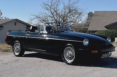 MG : MGB Black 1976 MGB Roadster, Rare Right Hand Drive from the UK, Fully Restored!