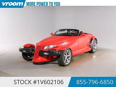 Plymouth : Prowler Certified 2000 48K MILES 1 OWNER CRUISE AUTOMATIC 2000 plymouth prowler 48 k low mile cruise automatic compass 1 owner cln carfax