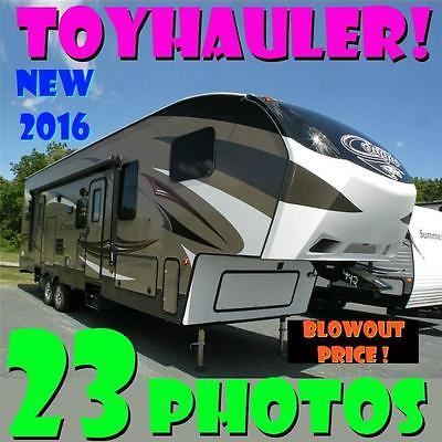BRAND NEW BLOWOUT '16 Cougar 326SRX toyhauler huge savings gorgeous 5th wheel