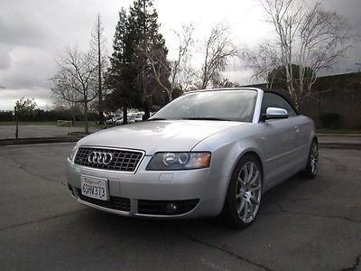 Audi : S4 S4 2004 audi s 4 quattro convertible manual 6 sp only 71 k miles