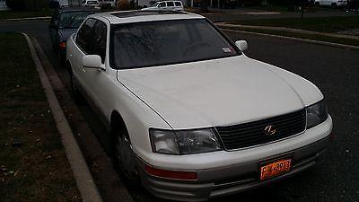 Lexus : LS ls400 1996 lexus ls 400 sedan diamond pearl white gold trim cd changer