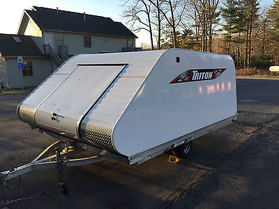 2014 Triton XT11-101 Aluminum Enclosed Snowmobile Trailer Dealer Demo w Extras