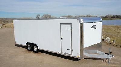 IN STOCK 8.5 X 24 Aluminum ATC Enclosed Carhauler Cargo Trailer: Screwless LED