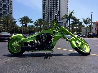 Custom Built Motorcycles : Chopper custom build motorcycle orange county choppers aventador green horse chopper