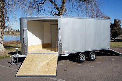 IN STOCK ALUMINUM ATC 8.5 X 18 Enclosed 2 - Place Snowmobile Trailer: Screwless
