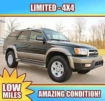 Toyota : 4Runner Limited Sport Utility 4-Door 2000 black toyota 4 runner must see tacoma ford dodge 150 99 01 02 98 1500 suv