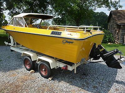 1972 Glasspar V 175 Fiberglass Boat. Original. 1 owner. 188 hp Mercruiser.