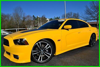 Dodge : Charger SRT8 Superbee 21W PACKAGE CLEAN CARFAX WE FINANCE! 6.4 l auto 470 hp stinger yellow 20 s 4.3 s pwr seat stripes super clean