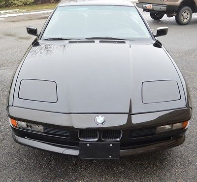 BMW : 8-Series Coupe 1991 bmw 850 i v 12 coupe low miles great condition black on black