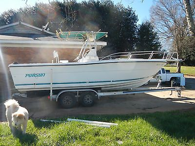 1990 Pursuit 2550 Offshore Fishing Vessel (project) with trailor
