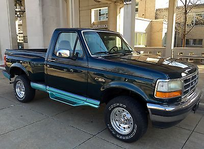 Ford : F-150 XLT Standard Cab 4x4 Pickup 2-Door 1994 ford f 150 xlt 4 x 4 one owner only 96 k rare flairside bed amazing condition