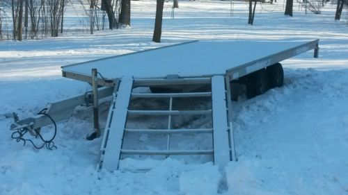 2003 newmans Sledbed sled bed 14' 3 place snowmobile trailer plus spare.