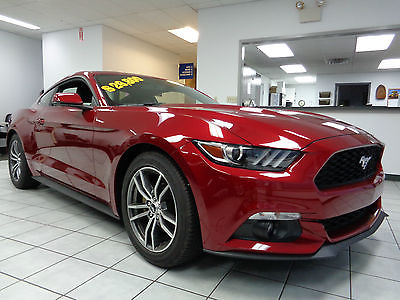 Ford : Mustang Ecoboost Coupe Premium Automatic Heated Leather Like New 2015 Mustang Coupe Premium Ecoboost Automatic Ruby Red 304 Mile Leather