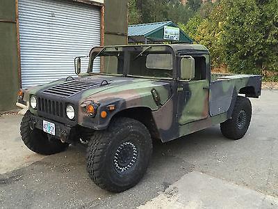 Hummer : H1 Humvee M998A1 Year 1988 / 2012 10,200 MILES STREET LICENSED super clean