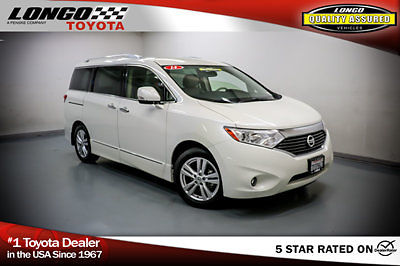 Nissan : Quest 4dr SL 4 dr sl low miles van cvt gasoline 3.5 l v 6 cyl white pearl